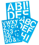 C-Thru Lettering Stencil Guides capitals Helvetica 10cm .