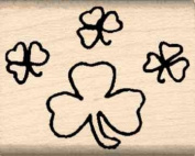 Shamrocks Rubber Stamp - 2.5cm x 2.5cm - 0.6cm