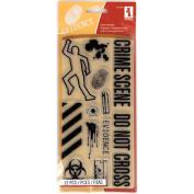 Inkadinkado Halloween Clear Stamps 10cm x 20cm Sheet-Crime Scene