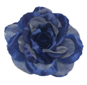 Cuteque International CQA106-NAVY 3-Piece Packed Satin Organza Rose Embellishment, 10cm , Navy