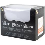 DCWV Box Of A2 Cards & Envelopes (11cm x 14cm )-White Texture 50/Pkg