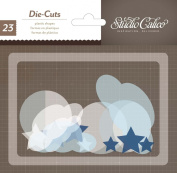 Studio Calico Story Time Baby Boy Cloudy Thin Plastic Shapes
