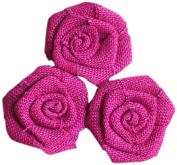 Maya Road BUR2255 Burlap Roses Embellishments, Fuchsia