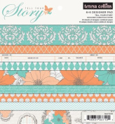 Teresa Collins Designs Tell Your Story Pad, 15cm by 15cm