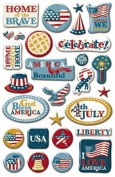 Patriotic Epoxy Stickers