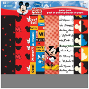 Disney Paper Pack 30cm x 30cm 12 Sheets-Mickey & Friends