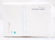 We R Memory Keepers Letterpress Paper, A7-Size, Flat-Style, 25-Pack, White