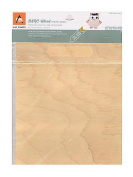 Arc Crafts Real Wood Paper Sheets White Birch 22cm . x 28cm . adhesive backing