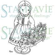 Stampavie Penny Johnson Clear Stamp-Gretchen's Winter Basket 7.6cm - 1.3cm
