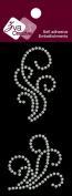 Zva Creative PEW-02CB-107 Pearl Sticker, White Flourishes