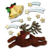 Jolees Boutique Christmas Reindeer Scrapbooking Embellishments Sticker Collage