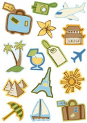 Jet Setting Icons Dimensional Scrapbook Stickers