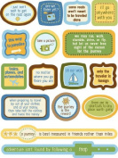 Jet Setting Quotes Dimensional Scrapbook Stickers