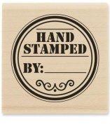 "Stampabilities Wood Mount Rubber Stamp ""Hand Stamped By - C1119"""