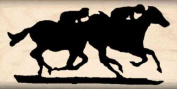 Horse Race Rubber Stamp - 2.5cm x 5.1cm