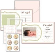 Snugglebug Girl Baby Announcement Kit by Little Yellow Bicycle