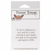 Riley & Company Funny Bones Cling Mounted Stamp 5.1cm x 3.2cm -Talking To A Guy