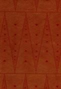 Art Deco Printed Lama Li Paper- Red on Tan 50cm x 80cm Sheet