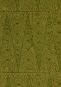 Art Deco Printed Lama Li Paper- Green on Sage 50cm x 80cm Sheet