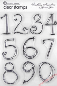 Autumn Leaves 'Scribbles Numbers' Clear Stamps