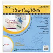 Craft Plastic Sheets 30cm x 30cm 4/Pkg-Clear .007