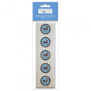The Paper Company, 2009160, Pby Blue Baby Carriage Foil Seal, 20Cnt