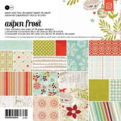 BasicGrey Aspen Frost Paper Pad for Scrapbooking, 15cm by 15cm