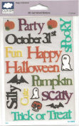 Happy Halloween 3D Gel Word Stickers