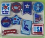 Patriotic Soft Brads for Scrapbooking
