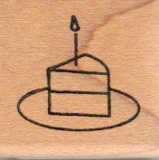 Piece of Cake Wood Mounted Rubber Stamp