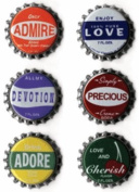 Feeling Primary Bottle Caps for Scrapbooking