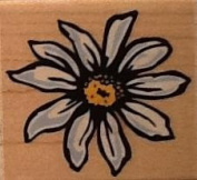 Daisy Block Print - Rubber Stamp by Rubber Stampede #A2672E