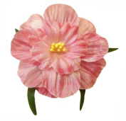 Cuteque International 6-Pack Rosy Mauve Soft Silk Cosmo Flower with Yellow Peep Centre, 7.6cm