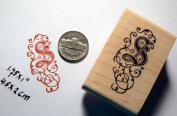 Letter S Monogram Rubber Stamp