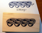 Muffin pan rubber stamp P35