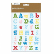 The Paper Company, 2009600, Bad To The Bone Chipboard Alphabet Stickers