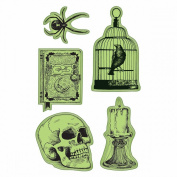 Inkadinkado Halloween Cling Stamp 10cm x 15cm Sheet-Nevermore
