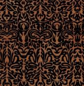 Tribal Print Paper- Black Print on Brown Paper 48cm x 70cm Sheet