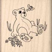 Bear/Bee Rubber Stamp - 2.5cm - 1.3cm x 2.5cm - 1.3cm