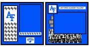UNIFORMED Air Force Academy 2-Page Layout Decorative Paper, 20cm by 20cm