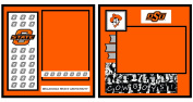 UNIFORMED Oklahoma State University 2-Page Layout Decorative Paper, 20cm by 20cm