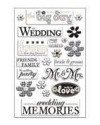 Wedding Pearl Epoxy Scrapbook Stickers