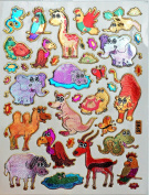 Jazzstick 200 Glitter Animals Decorative Sticker 10 sheets