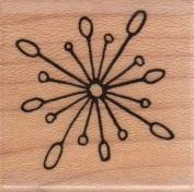 Starburst Snowflake Wood Mounted Rubber Stamp