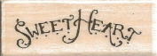 Sweetheart Holly Pond Hill Wood Mounted Rubber Stamp