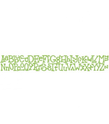 Sizzix Sizzlits Decorative Strip Die-Wingo Zingo Alphabet