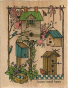 Home Tweet Home Sandi Gore Evans Wood Mounted Rubber Stamp