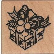 Wrapped Gift Wood Mounted Rubber Stamp