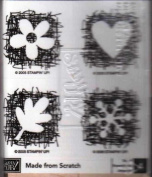 Made From Scratch - Set of 4 Rubber Stamps