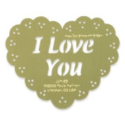 Heritage Handcrafts Stencil - I Love You Scalloped Heart